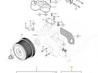 Ремкомплект водяного насоса двигателя трактора Massey Ferguson — 837079871