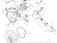 Ремкомплект водяного насоса трактора Challenger — 837079935