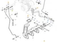 Турбокомпрессор двигателя трактора Massey Ferguson — 837079938