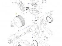 Шкив водяного насоса двигателя трактора Massey Ferguson — 837084259