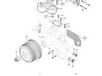 Шкив водяного насоса двигателя трактора Massey Ferguson — 837084575