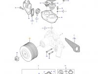 Шкив водяного насоса двигателя трактора Massey Ferguson — 837084622
