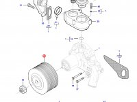 Шкив водяного насоса двигателя трактора Challenger — 837084622