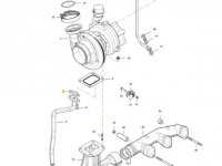 Прокладка турбокомпрессора двигателя трактора Massey Ferguson — 837084638