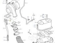 Прокладка турбокомпрессора двигателя трактора Challenger — 837084638