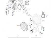 Шкив водяного насоса двигателя трактора Challenger — 837084923