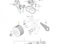Шкив водяного насоса двигателя трактора Massey Ferguson — 837084951