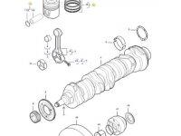 Поршень двигателя трактора Challenger — 837086083