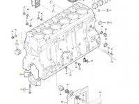Блок двигателя трактора Massey Ferguson — 837086427