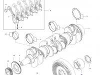 Демпфер шкива коленвала двигателя трактора Challenger — 837088291