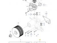 Ремкомплект водяного насоса двигателя трактора Massey Ferguson — 837091074