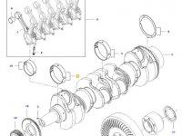 Вкладыши коренные двигателя трактора Challenger — 837091075