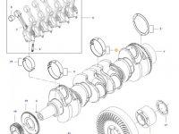 Вкладыши коренные двигателя трактора Challenger — 837091076