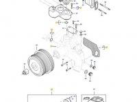 Охлаждающий(водяной) насос двигателя трактора Massey Ferguson — 837091189