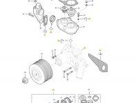 Охлаждающий(водяной) насос двигателя трактора Massey Ferguson — 837091197