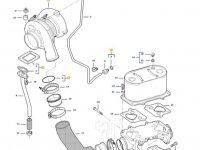 Турбокомпрессор двигателя трактора Challenger — 837091238