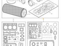 Комплект прокладок двигателя трактора Challenger — 837091561