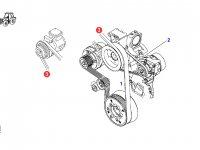 Ремень компрессора кондиционера двигателя трактора Fendt — X696623300000